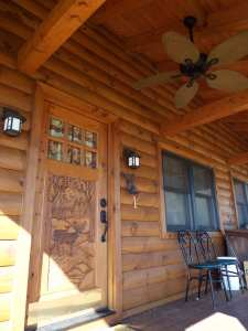 Crooked Creek Construction Log Home Exterior Front Porch